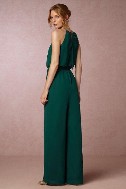 Emerald Jackie Jumpsuit | BHLDN