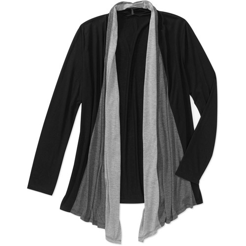 Wal-mart online $11.97 Up to size 4X Faded Glory Women's Plus-Size Colorblock Lightweight Flyaway Cardigan
