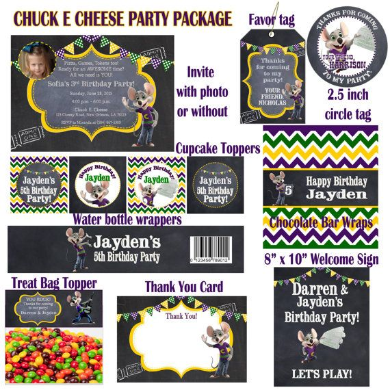 Chuck e cheese birthday party package coupons