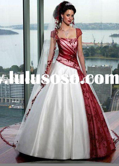 Google Image Result for http://www.lulusoso.com/upload/20120318/white_and_red_wedding_dress_2011.jpg