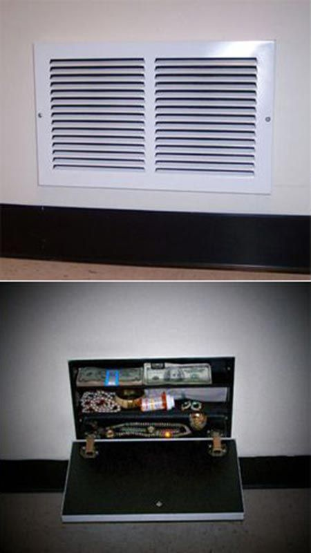 DIY Secret Air Vent Wall Stash Safe