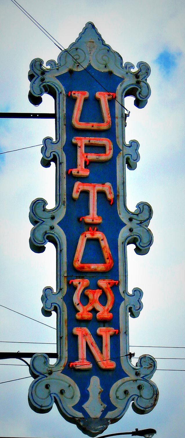 Uptown - Jon Lander - copyright 2013 - old neon theater sign, Wichita, KS