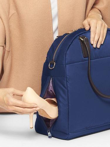 23f8451cf2a Shoe Pocket - The O.G. and O.M.G. - Nylon - Navy   Gold   Lavender -  Shoulder Bag - Lo   Sons