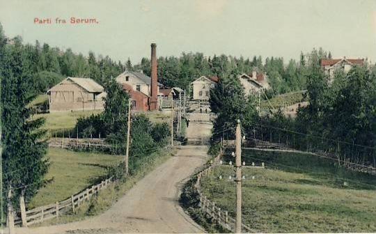 Akershus fylke Sørum kommune Lørenfallet tidlig 1900-tall