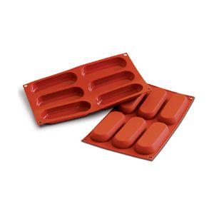 Silikomart Flexible Silicone Bakeware, Lady Finger (Sponge Finger) 2.8 Oz, 5 x 1.8 x .7 High, 6 Cavities Multiple Cavity Silicone Baking Molds - BakeDeco.Com | $18.95 | for the tiramisu ladyfingers