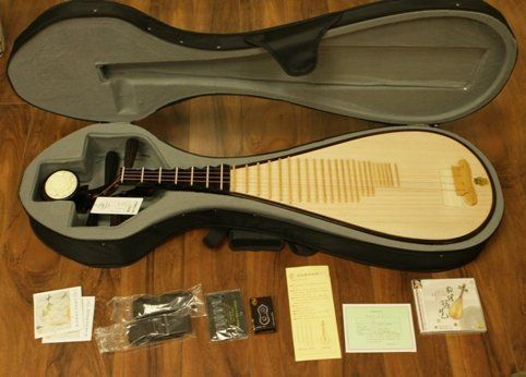 Professional Dunhuang Pipa - Chinese Guitar / Lute by Dunhuang. Save 55 Off!. $450.00. The pipa (Chinese: ??; pinyin: pípá) is a four-stringed Chinese musical instrument, belonging to the plucked category of instruments (????/????). Sometimes called the Chinese lute, the instrument has a pear-shaped wooden body with a varying number of frets ranging from 12-26. Another Chinese 4 string plucked lute is the liuqin, which looks like a smaller version of the pipa.