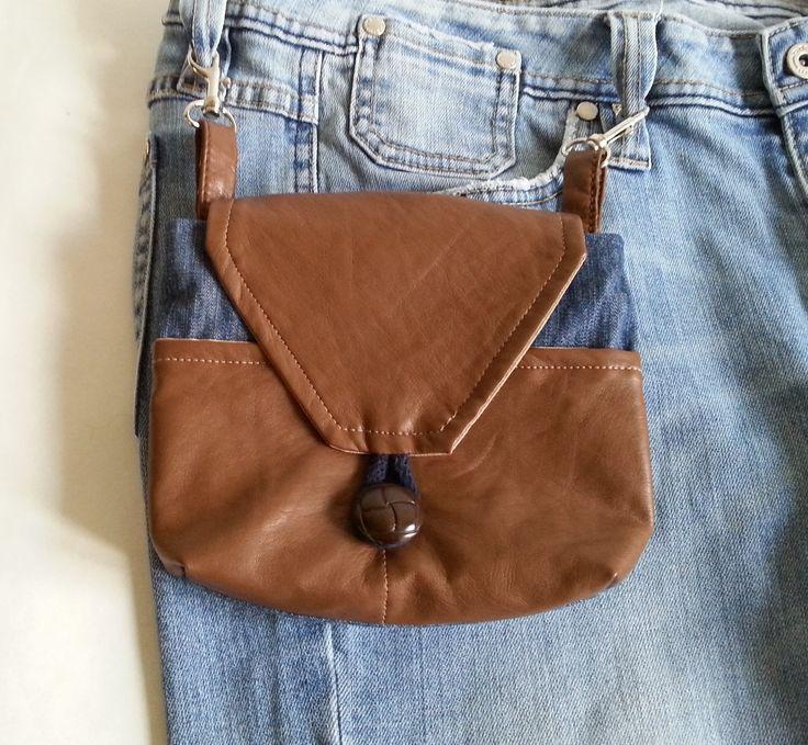 jeansowa saszetka