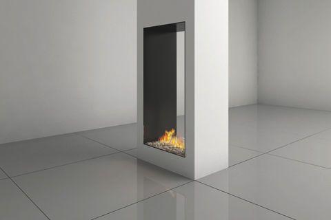 Chimenea de gas / de doble cara / hogar cerrado / moderna CLEAR 40 HIGH Ortal USA