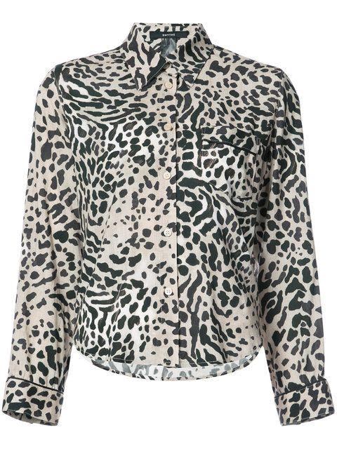 SMYTHE leopard print shirt. #smythe #cloth #