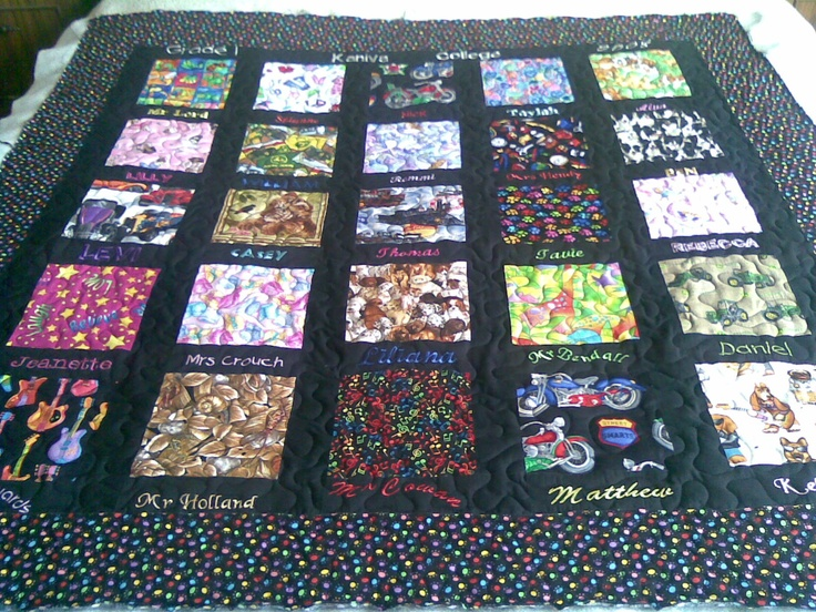 Quilting done by me for the Kaniva College grade 1 class of 2008.