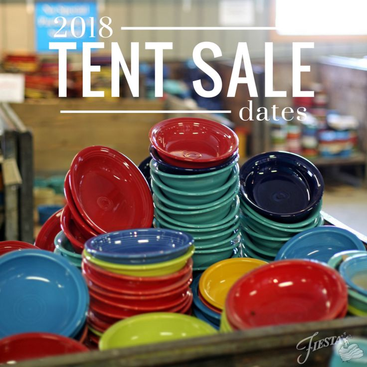 2018 Tent Sale Dates: Fiesta® Dinnerware Tent Sales bring customers from far and wide for huge savings on discounted seconds ware. Check out the 2018 Tent Sale dates here... | Fiesta Blog