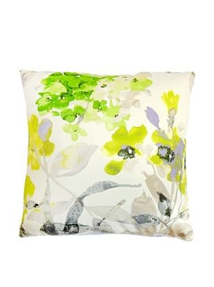 40% OFF The Pillow Collection Naryany Floral Pillow, Silver, 18