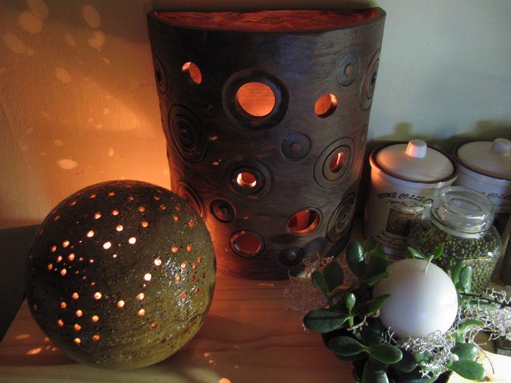 Výtvarná dílna De L´Art - Fotoalbum - Moje keramika - Svícny, lampy - Svícen velký