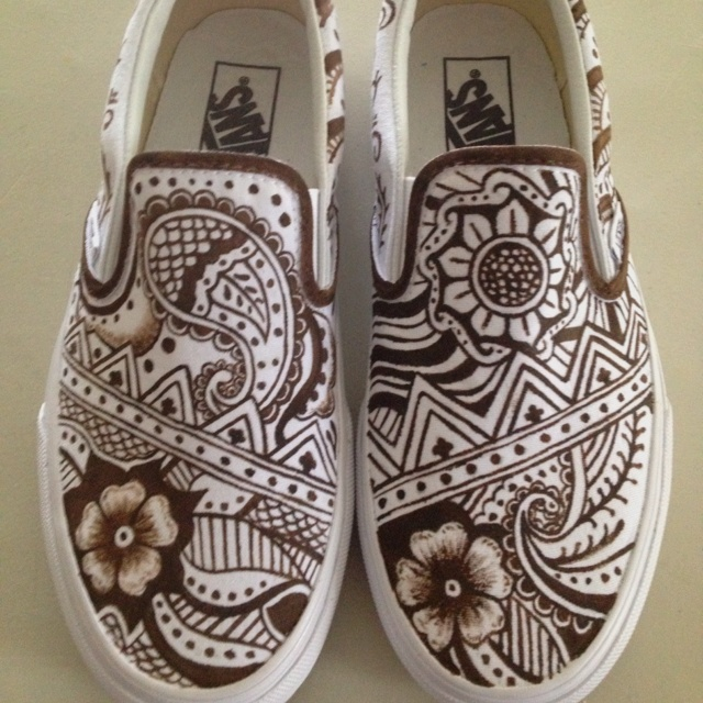 Hand painted Vans that a coworker painted for me! All done with paint! They are more amazing in person!!