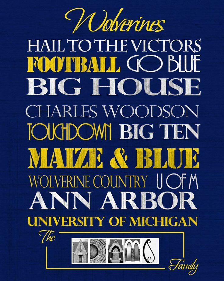 University of Michigan Wolverines print