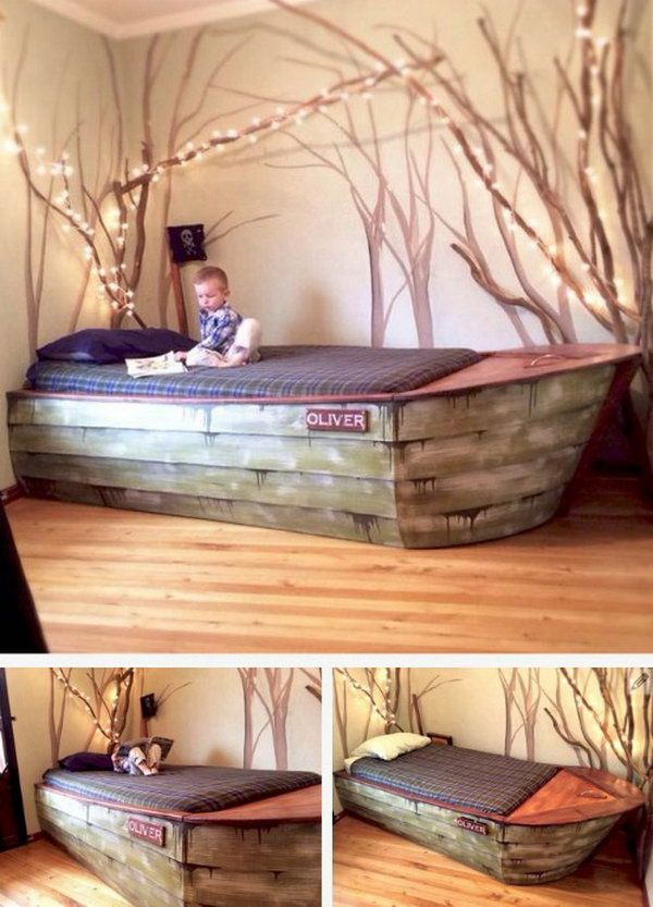 DIY Boat Bed Frame. Check out the tutorial