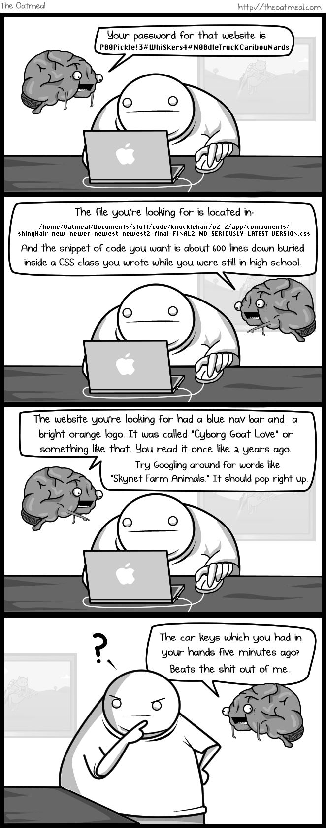 The Oatmeal comic... If my brain was an imaginary friend.. - Imgur