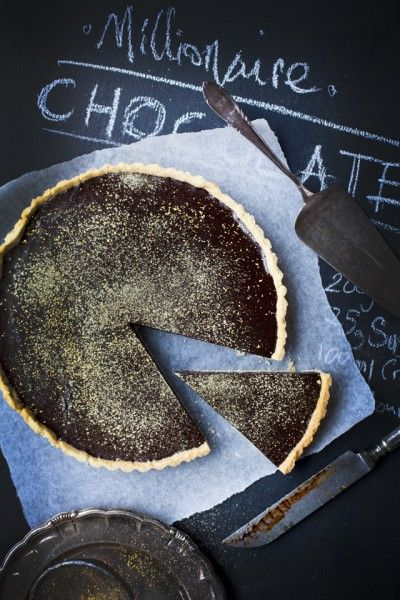 Wow your guests with this decadent dinner party dessert!  Millionaire Chocolate Ganache Tart | DonalSkehan.com