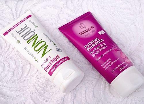 Ekologiska duschkrämer för torr och mogen hud, med anti-aging effekt.
