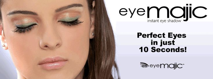 Unique  easy to apply, EyeMajic Instant Eye Shadow works great with our Eye Liner  Lip Liner to give you flawless eye makeup every time. No fuss! http://eyemajic.com/