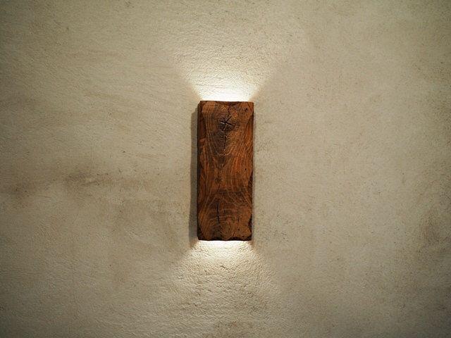 Wandlampe HolzhandgefertigtIndirekte Beleuchtung