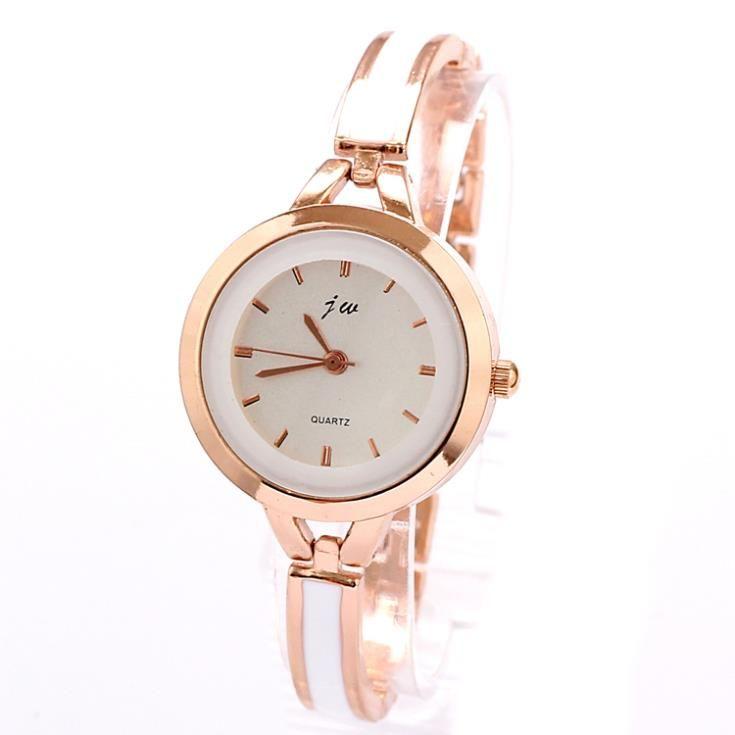 Free Shipping Women Dress Watch Alloy Small Bracelet Strap Brand Analog Quartz Watches Round Rose Gold Case Wristwatch Wholesale US $9.00