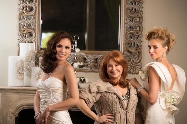 @Renée Strauss star of @BridesOfBeverlyHills with 2 beautiful brides. Photo taken by @Edward Ross @Bridal Fantasy