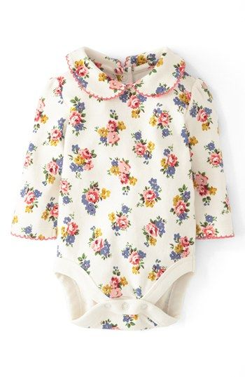 Mini Boden 'Pretty Collar' Bodysuit (Baby Girls) | Nordstrom