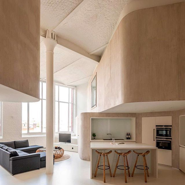 A former factory on the outskirts of #Kortrijk in #Belgium was the setting for this residential brief given to #GrauxBaeyens Architects. Be careful - those dangerous curves may cause slight heart palpitations. Photo Luc Roymans. #Yellowtrace #YellowtraceInteriors #YellowtraceArchitecture #Loft #InteriorArchitecture http://ift.tt/1hC2Bxn by yellowtrace