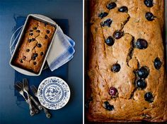 Vegan Blueberry Banana Bread. deceiving...being vegan  you'd think its healthy, but its not.