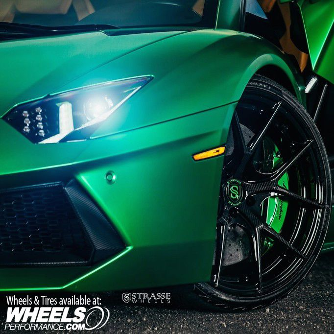 Strasse Forged SM5R Deep Concave Monoblock wheels on Lamborghini Aventador LP700-4  Wheel Features: Carbon Fiber Edition Wheels, Gloss Green Logos, Weight Reduction Pocketing  @StrasseWheels 1.888.23.WHEEL(94335)  Wheels Pricing & Availability: @WheelsPerformance Authorized Strasse Forged Wheels dealer @WheelsPerformance | Worldwide Shipping Available   #wheels #wheelsp #wheelsgram #strasse #strasseforged #sm5r #wpsm5r #strassewheels #forged #teamstrasse #wpstrasse #wheelsperformance…