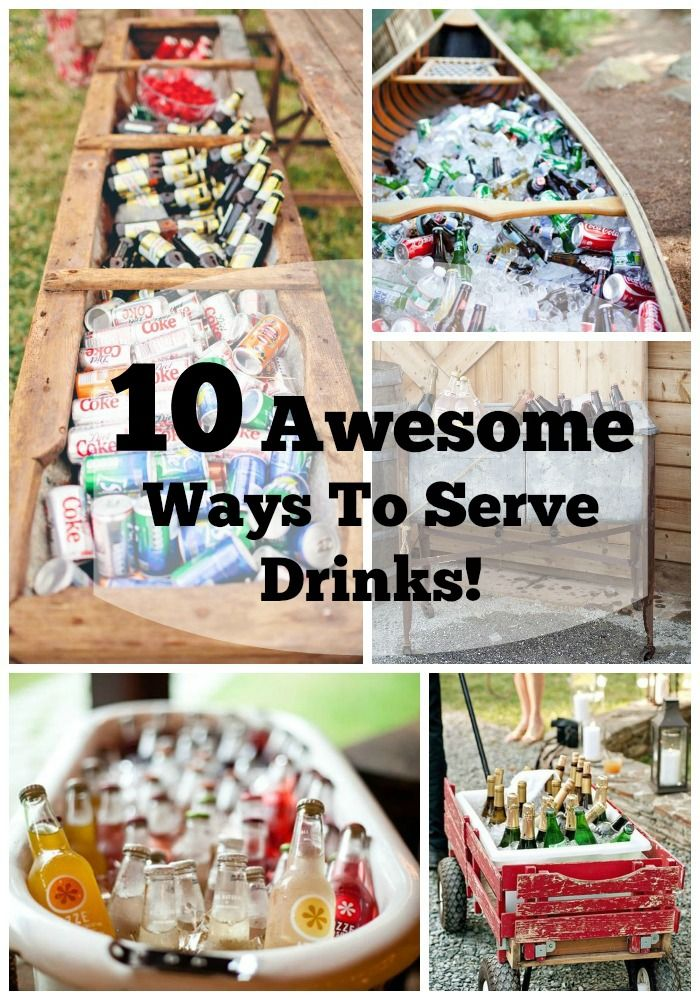 Creative ways to serve drinks barbecues for What to serve at a bbq birthday party