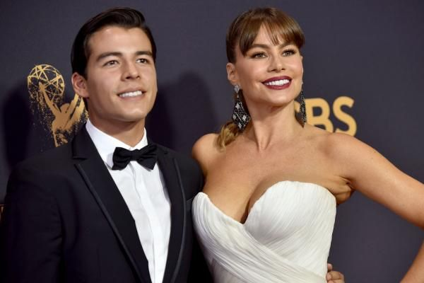 """Modern Family"" star Sofia Vergara brought her 26-year-old son to the Emmys while husband Joe Manganiello filmed a new movie."