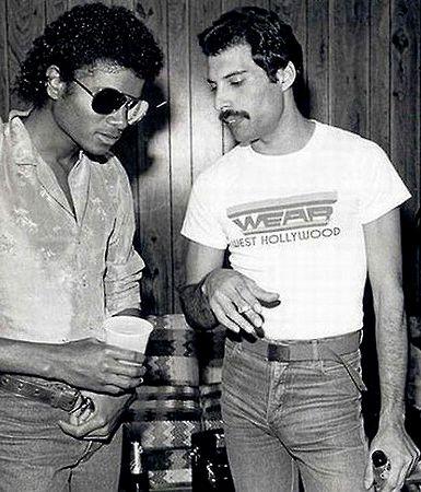 michael jackson with Freddie Mercury