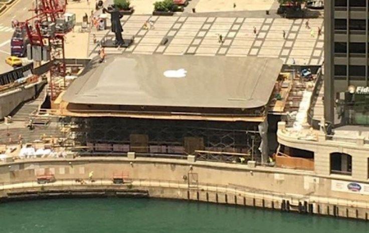Apple Store im Apple-Look  Keine Überraschung und doch außergewöhnlich. Der neue Apple-Store im US-amerikanischen Chicago bekommt ein Dach, das aussieht, wie… ein überdi...