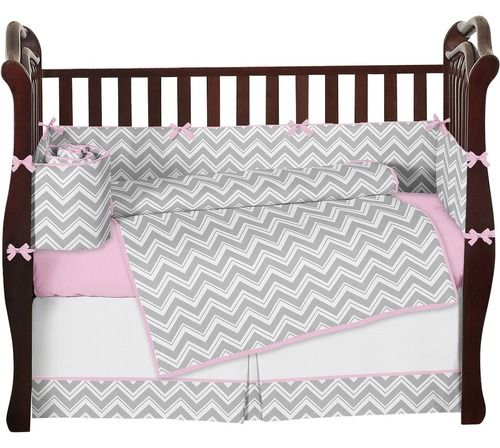 Pink & Gray Chevron Baby Bedding & Crib Set - Sweet Jojo Designs