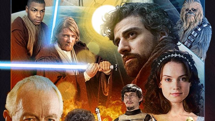 We took our best shot at creating a poster for the new Star Wars featuring all the cast members..