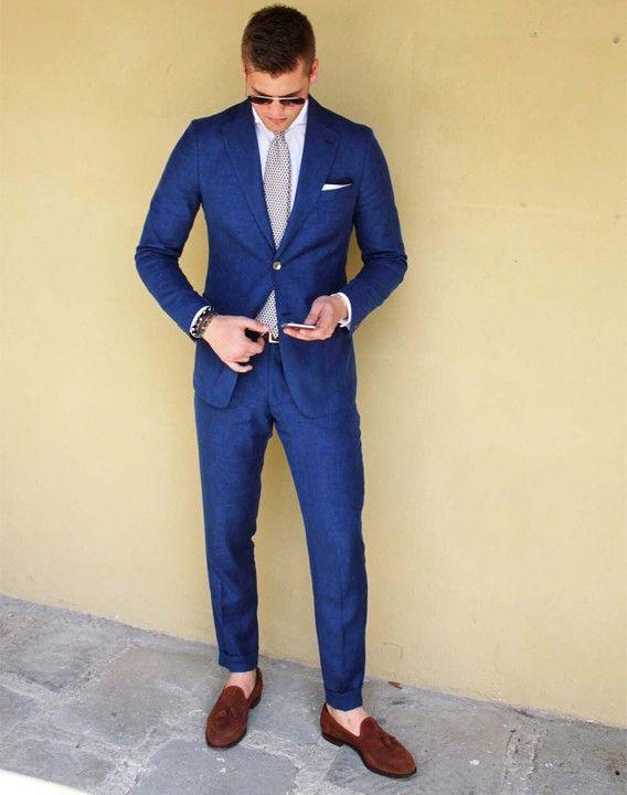 8828d0dfa6f3e9 Blue Suit Brown Shoes Combination - Bewakoof Blog