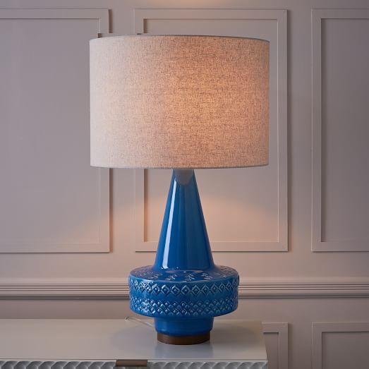 Scandi Ceramic Table Lamp - Large