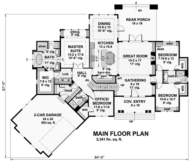 Bungalow cottage craftsman french country tudor house plan for Tudor mansion floor plans