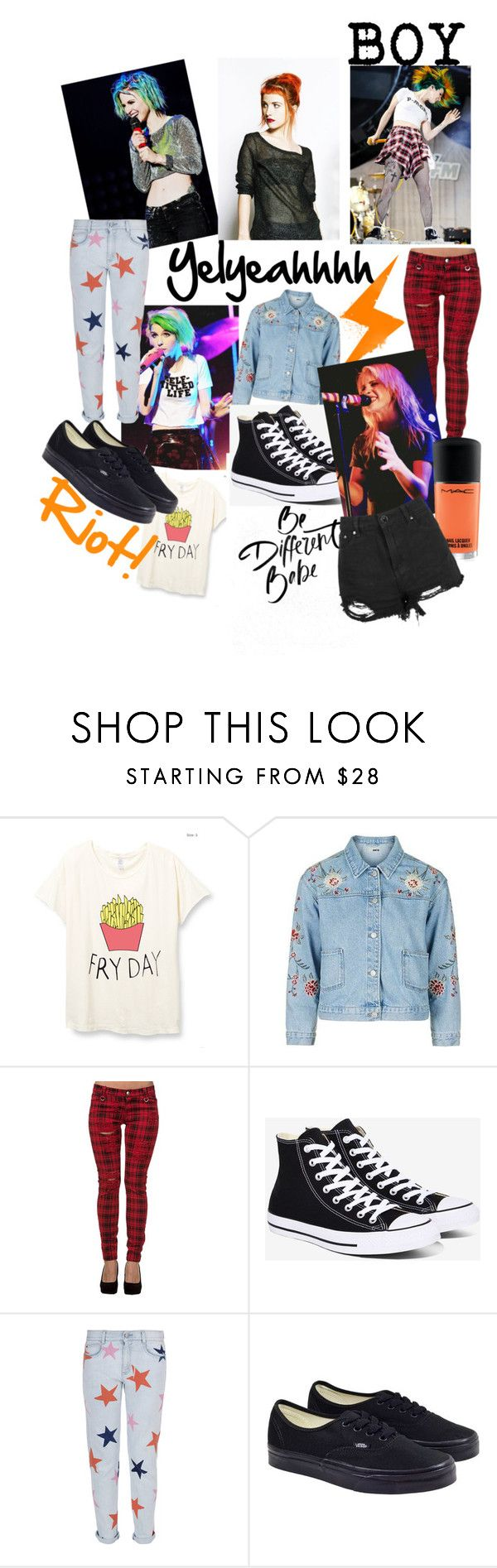 """Hayley Williams inspired"" by ikgidda ❤ liked on Polyvore featuring Topshop, Converse, STELLA McCARTNEY and Vans"
