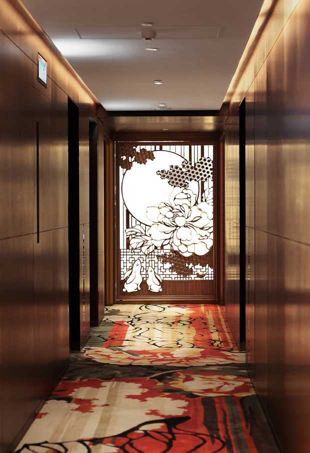 Customized elements designed to give the Mira Moon Hotel in Hong Kong a whimsical look | Paint + Pattern