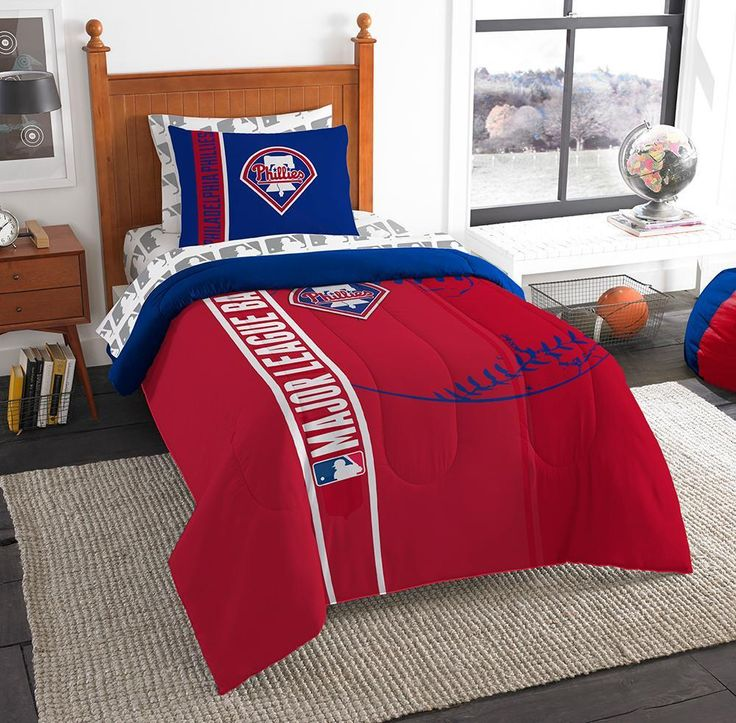 Philadelphia Phillies MLB Twin Comforter Bed in a Bag (Soft & Cozy) (64in x 86in)