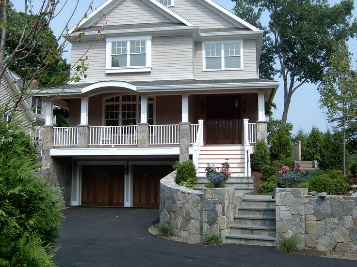 Custom Modular Two Story With A Drive Under Garage And