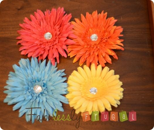 DIY Flower Clips - Fabulessly Frugal