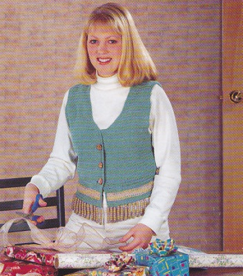 Ravelry: Fringed Vest to Knit pattern by Australian Women