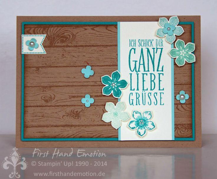 Stampin' Up! by First Hand Emotion: Liebe Grüsse mit Petite Petals und Hardwood