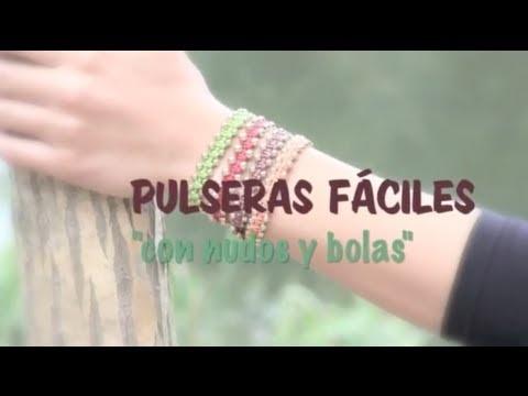 Pulseras con nudos planos y bolas  www.secretosdechicas.es