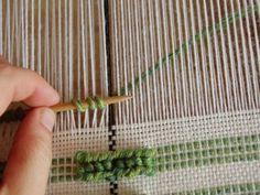 Doni's Delis: Donatella | pibiones: grape in Sardinian | wrap supplemental weft on a needle