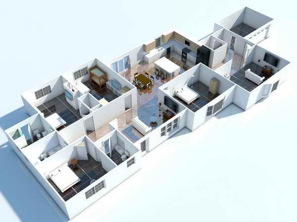 3D Modern Home Floor Plans with Floor Plan Design Software - The Smart Way in Designing 3D Home Floor Plans